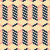 Seamless geometric pattern dark blue, pink, yellow colors. Seamless abstract geometric pattern dark blue, pink, yellow colors Stock Photography
