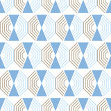 Seamless abstract geometric pattern. Decorative background. Vector illustration Stock Photos