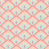 Seamless abstract geometric pattern pastel vector illustration