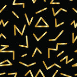 Seamless abstract geometric pattern in retro memphis style Royalty Free Stock Photography