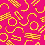 Seamless abstract geometric pattern in retro memphis style. Fashion 80-90s.vector illustration Royalty Free Stock Photo