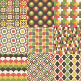 Seamless abstract geometric pattern. Seamless abstract retro geometric pattern set Stock Illustration