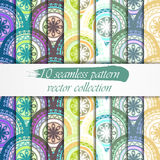 Seamless abstract geometric pattern set. Seamless background. Vector Illustration Stock Images