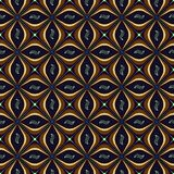 Seamless abstract geometric ornament ticks. Seamless abstract geometric pattern. Stylish blue and gold background. Seamless geometric pattern can be used for stock photography