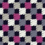 Seamless abstract geometric pattern. The texture of rhombus. Brushwork. Hand hatching. Textile rapport Stock Photography