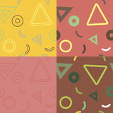 Seamless abstract geometric pattern royalty free illustration