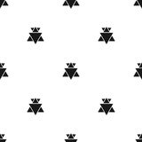Seamless abstract geometric pattern vector simple design Stock Images