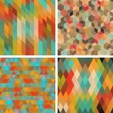 Seamless abstract geometric patterns set Stock Photo