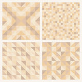 Seamless abstract geometric patterns set Stock Images