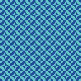 Seamless abstract geometric square and circle intersection pattern. Background vector illustration