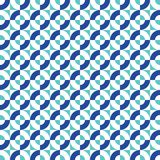 Seamless abstract geometric square and circle intersection pattern. Background stock illustration