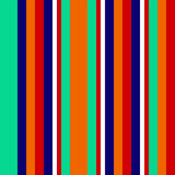 Seamless abstract geometric stripes vector background with colorful vertical lines turquoise orange dark blue red white. Shapes Royalty Free Stock Photography
