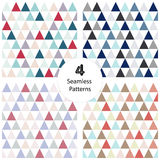 4 seamless abstract geometric triangle Royalty Free Stock Photos
