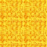 Seamless vector floral plaid pattern in orange and yellow stock illustration
