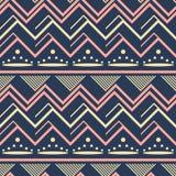 Seamless geometric vector pattern dark blue, yellow, pink colors vector illustration