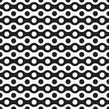Seamless abstract geometric wave and dot pattern. Background royalty free illustration