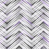 Seamless abstract geometric zigzag pattern on light gray background. Colorful pattern Stock Images