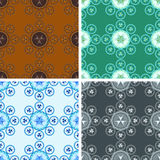 Seamless abstract geometrical art pattern set Royalty Free Stock Images