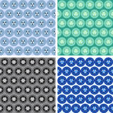 Seamless abstract geometrical art pattern set. Seamless colored abstract geometrical art pattern set Stock Photography
