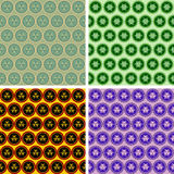 Seamless abstract geometrical art pattern set Stock Image