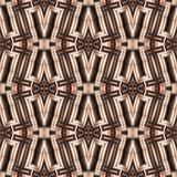 Seamless, abstract and geometrical 3D wall-paper, beige. A decorative pattern with metal effect, a basis for design Stock Photos