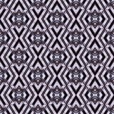 Seamless, abstract and geometrical 3D wall-paper, gray. A decorative pattern with metal effect, a basis for design Stock Image