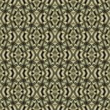 Seamless, abstract and geometrical 3D wall-paper, marsh. A decorative pattern with metal effect, a basis for design Stock Images