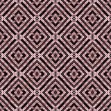 Seamless, abstract and geometrical 3D wall-paper, purple. A decorative pattern with metal effect, a basis for design Royalty Free Stock Images