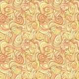 Seamless abstract gold color hand-drawn texture Stock Images