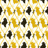 Seamless abstract golden grape pattern Royalty Free Stock Photography