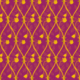 Seamless abstract golden rose pattern Royalty Free Stock Images
