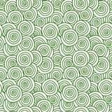 Lawn grass swirls seamless texture. Seamless abstract green lawn curl swirls grass background. Green garden texture pattern stock illustration