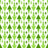 Lawn grass triangles seamless background. Seamless abstract green lawn triangles and balls grass background. Green garden texture pattern Stock Image