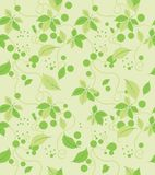 Seamless abstract green leaves pattern Stock Photo
