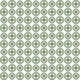 Seamless abstract green texture fractal patterns. On white background Stock Image