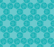 Seamless abstract hand-drawn curls pattern. Stock Photos