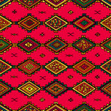 Seamless abstract hand-drawn ethnic pattern, tribal background. Stock Images