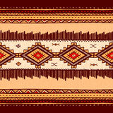Seamless abstract hand-drawn ethno pattern, tribal background. Royalty Free Stock Images