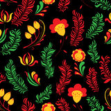 Seamless abstract hand-drawn floral pattern Stock Photos