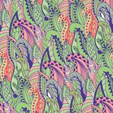 Seamless abstract hand-drawn grass pattern, wavy Royalty Free Stock Image