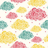 Seamless abstract hand-drawn pattern. Stock Image