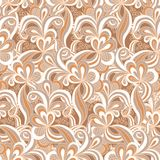 Seamless abstract hand drawn pattern Royalty Free Stock Image