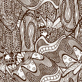 Seamless abstract hand-drawn pattern. Royalty Free Stock Photo