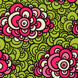 Seamless abstract hand-drawn pattern. Stock Photography