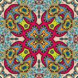 Seamless abstract hand drawn pattern. Decorative floral geometric background Royalty Free Stock Images