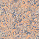 Seamless abstract hand-drawn pattern Stock Image