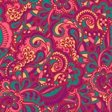 Seamless abstract hand-drawn pattern Royalty Free Stock Images