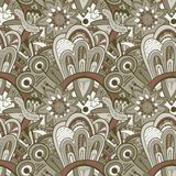 Seamless abstract hand-drawn pattern, steampunk background vector illustration