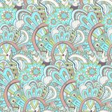 Seamless abstract hand-drawn pattern, steampunk background Stock Photo