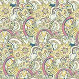 Seamless abstract hand-drawn pattern, steampunk Stock Photos